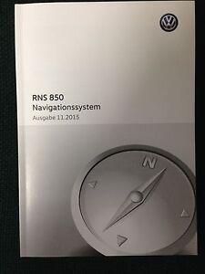 VW Navigationssystem RNS 850  2015  Betriebsanleitung 2015 Bedienungsanleitung