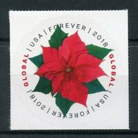 USA 2018 MNH Poinsettia 1v S/A Set Plants Nature Flowers Stamps