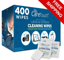 Care Touch Lens Cleaning Wipes Pre Moistened Cleansing Surfaces Cloths 400 Pack