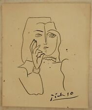 Ink drawing signed PICASSO