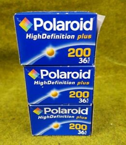 Polaroid  High Definition Plus 200 36 Film Sealed out of date 2007 ! x 3