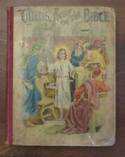 Antique CHILD'S STORY OF THE BIBLE DeWolfe Fiske Boston Lithographs Lathbury