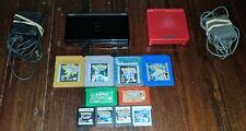 Huge Rare Gameboy Advance SP GBA, Nintendo DS Pokemon Bundle Black, Flame Red
