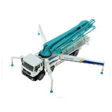 1:55 Scale White Diecast Concrete Pump Truck Construction Equipment Model