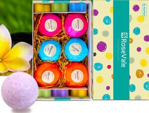 Natural Vegan Handmade 6 Bath Bombs 6 Heart Shaped Candles Relax Fizzy Gift Set