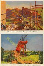 Vollbehr Reichsautobahn RAB Bauwesen Kran Stahl Sulzbachtalbrücke Esslingen 1935