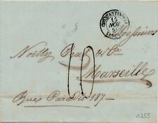 Lettre Cad Constantinople Turquie Taxe 10 pour Marseille Cover Turkey