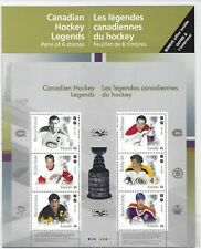 CANADA 2017 ICE HOCKEY LEGENDS SET OF 6 IN SHEETLET IN PACK UNMOUNTED MINT,