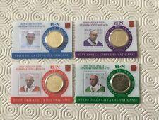 Vatican 4 Coincards Pièce de 50 Cent. plus timbre 2019