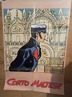 Affiche Corto Maltese Hugo Pratt Poster 97x68 cm pliée en 8