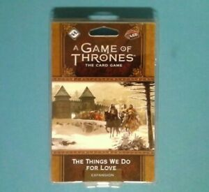 A Game of Thrones LCG The Things We Do For Love Premium Pack