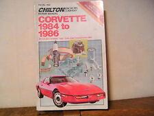 CORVETTE 1984 to 1986 Repair Manual Chilton