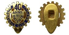 "DISTINTIVO BADGE AUTOMOBILE CLUB NAPOLI "" 40 ANNI DI PATENTE "" con smalti #D29"