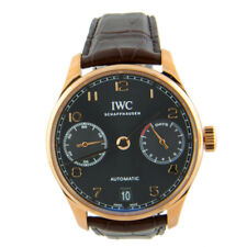 IWC Portuguese 7 Day Automatic Rose Gold Grey IW500702 IW5007-02