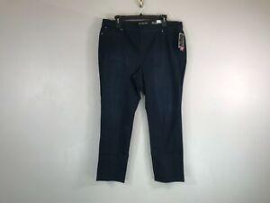 Women's Kim Rogers Pull On Average Straight Leg Jeans - Size 22W - Black