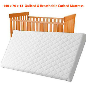 Toddler QUILTED & Waterproof Breathable COT BED MATTRESS Cotbed140x70x10 Size