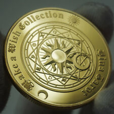 Tarot Sun Moon Geomancy Constellation Lucky Wish Gold Coin US Collectible GIFT