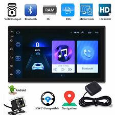 2 Din 7'' Car Autoradio Android 9.1 Navigatore GPS Bluetooth WIFI USB/FM Mirror