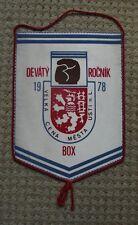 1978 Czechoslovakia Boxing Title Fight Usti nad Labem Glove Lion Pennant Flag