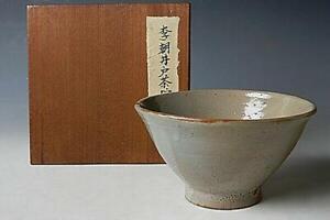 Korean Joseon Dynasty Tea Bowl / W 15.5× H 8.5[cm]  Pot Plate