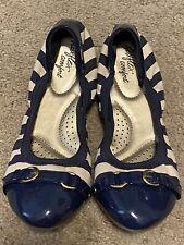 Dexflex Comfort Women's Shoes Ballet Flats  US 7  Navy Blue/White