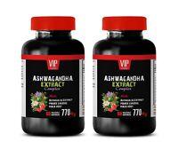 natural anti inflammatory - ASHWAGANDHA COMPLEX 770MG - reduce cortisol level 2B