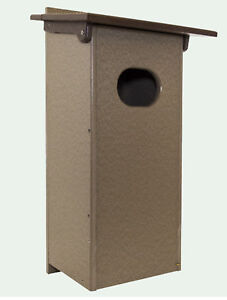 Wood Duck Box Weatherproof poly House for Ducks Amish Built no rot or fade