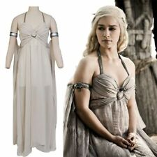 Game of Thrones Cosplay Mother of Dragons Daenerys Targaryen White Dress Costume