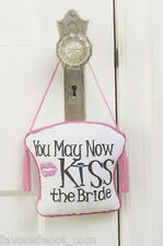 Kiss the Bride Door Hanger Honeymoon Gift Bridal Shower Bride Gifts
