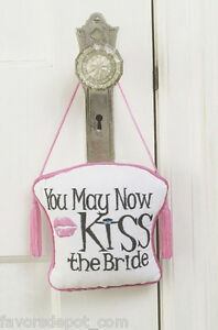 kiss the bride door hanger honeymoon gift bridal shower bride gifts