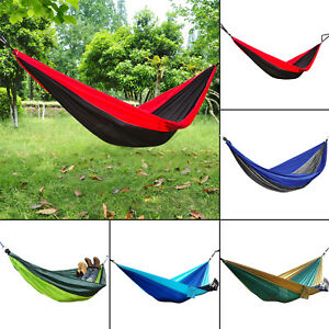Double Person Parachute Nylon Hammock Outdoor Travel Camping Swing Hanging Bed