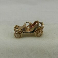 9ct GOLD MOVING VINTAGE CAR CHARM