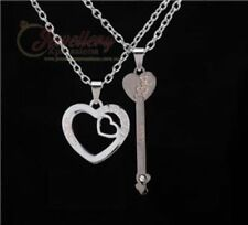 Stainless Steel Heart and Key Pendant Chain Couple Necklaces