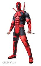 Marvel Deadpool Deluxe Adult Licensed Fancy Dress Costume Weapons Not Included Standard 810109 STD