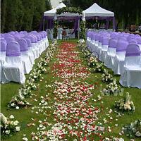 100/1000pcs Silk Rose Flower Petals Wedding Party Table Confetti Decors ab