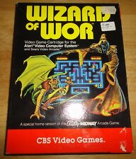 WIZARD OF WOR (1982) for ATARI 2600 - COMPLETE IN BOX CIB with MANUAL