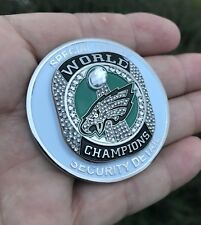 PHILADELPHIA EAGLES SUPER BOWL 52 LII CHAMPS POLICE SECURITY RING CHALLENGE COIN
