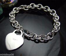 Herz Charms Bettelarmband Armband Plattiert 925 Silber Schmuck Armkette Kette