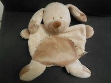 340/ doudou plat chien beige marron NICOTOY