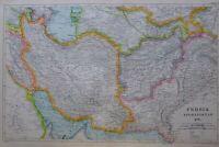 1919 MAP PERSIA AFGHANISTAN BALUCHISTAN PUNJAB KABUL KHURASAN MAZANDERAN