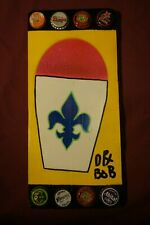 SNO BALL SIGN Painting, New Orleans, Louisiana Outsider Folk Art by DR. BOB