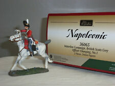 BRITAINS 36065 BRITISH SCOTS GREYS OFFICER MOUNTED CHARGING METAL TOY SOLDIER