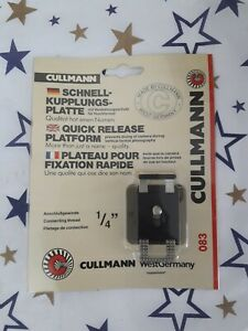 Vintage Cullmann tripod camera quick release 083 plate black - Sealed