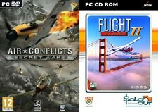 air conflicts secret wars & flight unlimited 2    new&sealed