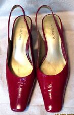 "Nice  **LIZ CLAIBORNE**  Red Patent Eel Skin Leather  3"" Heel, S.7M"