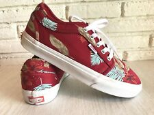Vans Mens 7  Ultracush Pro Hawaiian Aloha Floral Print Maroon Shoes Sneakers