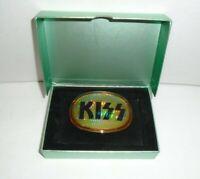 KISS 1977 PACIFICA SUPER RARE PRISM BELT BUCKLE  -  ORIGINAL VINTAGE AUCOIN