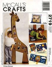 McCall's Noah's Ark Giraffe Growth Chart,Pillow and Book Pattern 2719 UNCUT