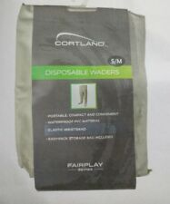 Cortland disposable waterproof pvc material Fishing Waders small  medium