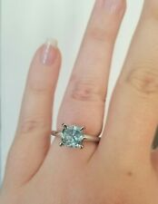 New 2 ct Blue Moissanite Solitaire  Ring ring size is 6.5